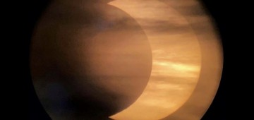 Image of a solar eclipse taken by Andrew Symes